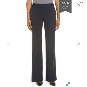 Classiques Entier Navy Flare Leg Suit Pants